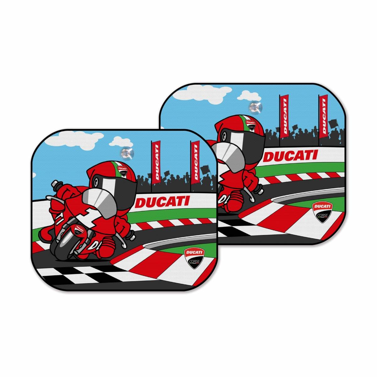 Cartoon Sun Shades Pair Accessories Apparel Ducati
